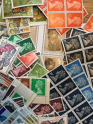 GB  Lower Value Stamps For Postage, Face Value £ 30+