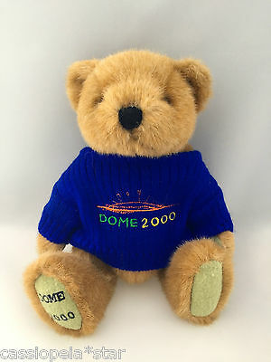 Millennium Dome 2000 Experience Jointed Teddy Bear In Blue Jumper