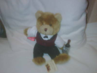 Walter the Wine Waiter  (Teddy Bear Collection)   NEW