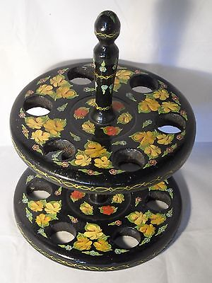 Genuine? Canal Narrowboat Barge Ware Large Hand Painted Wooden Egg Storage Rack