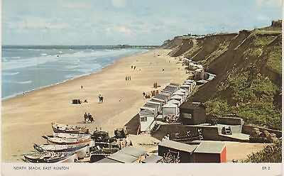 East Runton. North Beach. 1965 postcard in GC. Written and posted