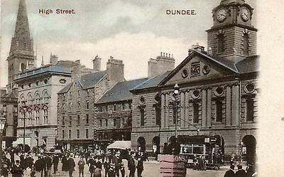 Dundee,Edwardian Street Scene,The High Street(with People & Tram) c1904.See Scan