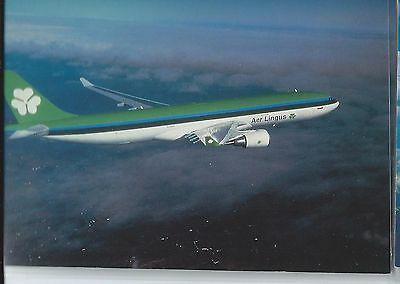 Aer Lingus Ireland airline issue New York office  A330 postcard