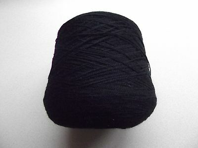 KNITTING MACHINE YARN - 4 PLY - BLACK - 542g