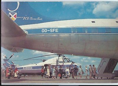 SABENA Belgium airline issue  postcard S 58 helicopter DC-7C