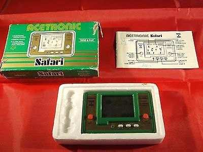 Safari - Acetronic / Vtech - Game & Watch Handheld Console - Boxed & Complete