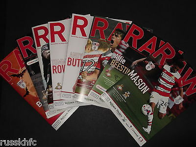 2016/17 Doncaster Home Programmes Choose From