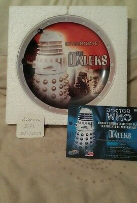 Doctor Dr Who Collectors Plate The Daleks Ltd Ed Mint Mib