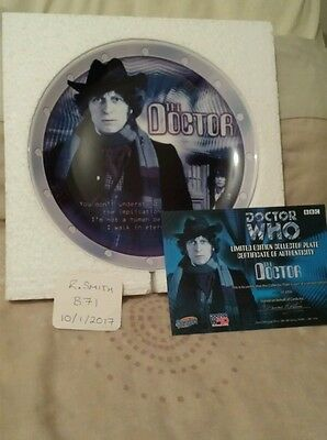 Doctor Dr Who Collectors Plate The Doctor Mib Ltd Ed