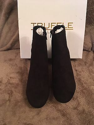 """Ladies """"Truffle """"Ankle Boots with Heel Less New size 7/40 Black 3in Heel"""