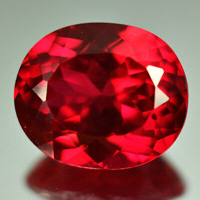 6.40cts.AWESOME BLOOD RED RUBY OVAL LOOSE GEM