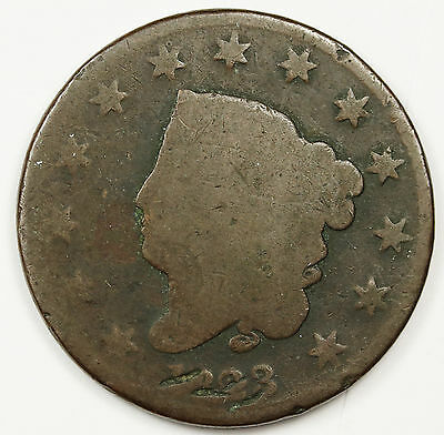 1823 Large Cent.  Circulated.  96474