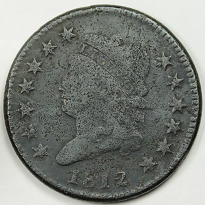 1812 Large Cent.  F.-V.F. Detail.  84362