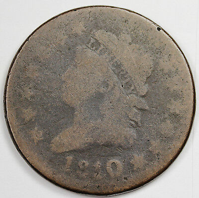 1810 Large Cent.  Near Good.