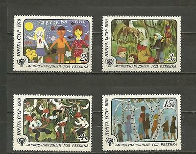 RUSSIA - 1979 International Year of the Child  - MINT UNHINGED COMPLETE SET.