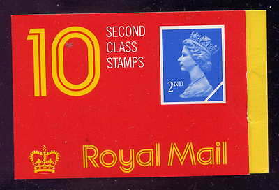 GB 1989 10 x 2nd CLASS STAMPS BARCODE BOOKLET HC1a
