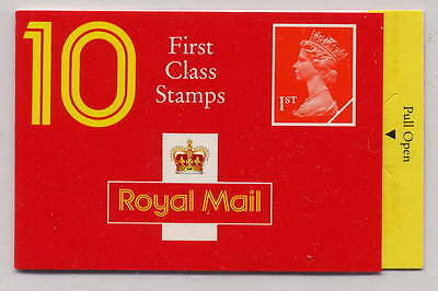 GB 1990 10 x 1st CLASS STAMPS BARCODE BOOKLET HD3a