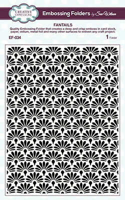 Creative Expressions Embossing Folder by Sue Wilson - FANTAILS -   EF-034