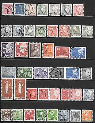 SWEDEN Interesting Early All Used Issues Selection 'A' (Dec 0427)