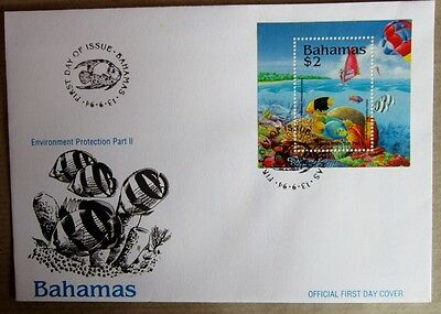 Bahamas First Day Cover FDC Environment Protection part  2  13/9/1994  $2 stamp