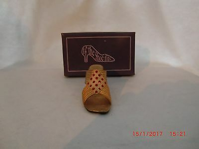 The Leonardo Collection If The Shoe Fits GOLD  with RED stones No LP8643