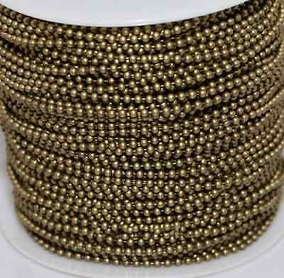 2Meters Bronze Tone Metal Ball 2.4mm Round Chain Necklace Craft Jewelry Finding