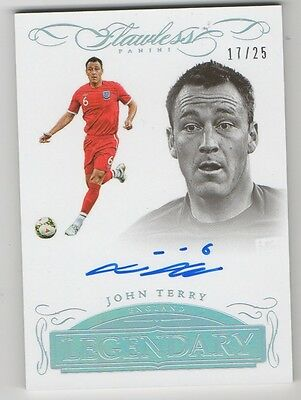 2016 Flawless SoccerJOHN TERRY On Auto #17/25 England
