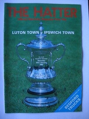 Luton Town v Ipswich Town 1981/82 FA Cup Programme