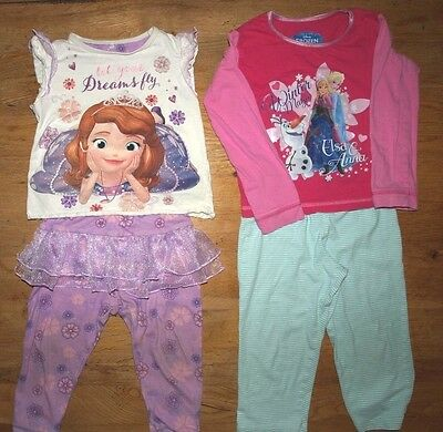 2-3 Yr Old Girl's Pyjamas x 2  Disney George and Other-Princess Style VGC!