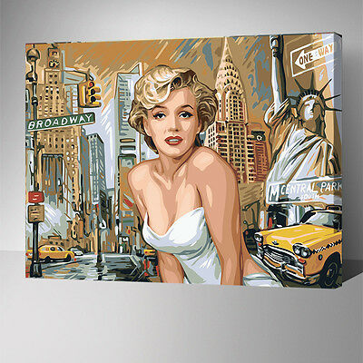 Painting by Number kit Urban Woman Fashion Lady Foxtrel Beauty America YZ7440