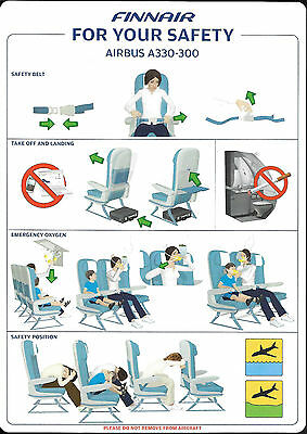 1 x FINNAIR A330-300 SAFETY CARD