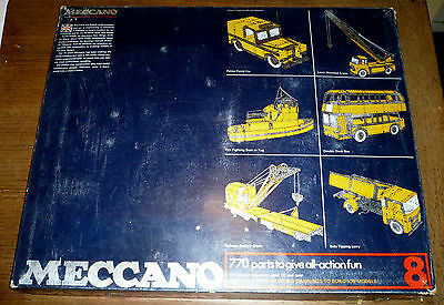 Meccano 1970's outfit 8, complete, boxed with manuals, appears unused
