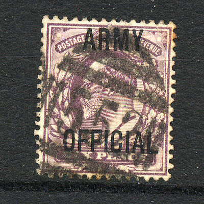 GREAT BRITAIN , OFFICIALS , ARMY OFFICIAL , 6d stamp fine used,.