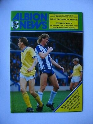 West Bromwich Albion v Ipswich Town 1986/87 Programme
