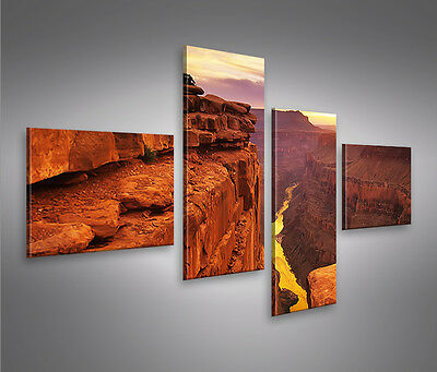 grand canyon 4l bild auf leinwand wandbild poster kunstdruck eur 29 90 picclick de. Black Bedroom Furniture Sets. Home Design Ideas