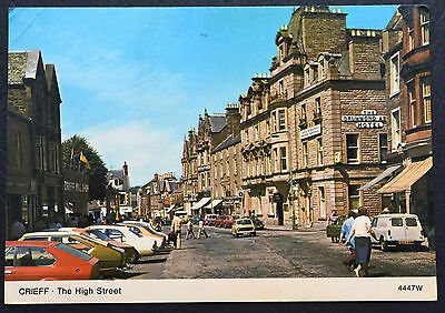 Postcard ~ Crieff ~ The High Street ~ Posted 1985