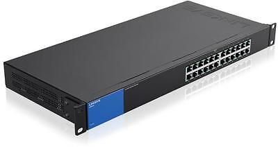 Linksys LGS124 24-Port Gigabit Switch Wired connection speed up to 1000 Mbps