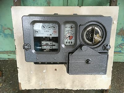 Old Vintage Retro Coin Electric Meter