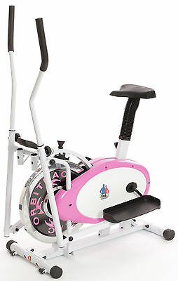 REBOXED EXERCISE BIKE/CROSS TRAINER Combo, Fitness&Cardio ELLIPTICAL Pink +BALL