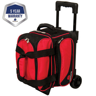 Ebonite Transport Black/Red 1 Ball Roller Bowling Bag