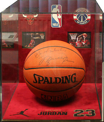 Michael Jordan Basketball In Acrylic Display Case