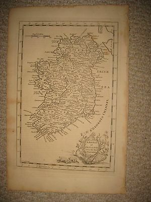 Gorgeous Fine Antique 1765 Ireland Copperplate Map Ulster Munster Leinster Rare