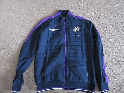 Macron Scotland Rugby SRU navy blue anthem/training zip jacket 3XL BT sponsor