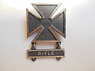 World War II Sterling Silver Rifle Marksman Medal ~ Nice Condition