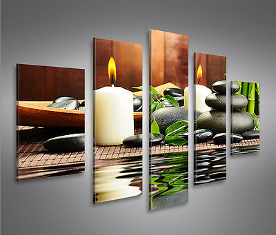 zen stones feng shui 4er bild auf leinwand bilder wandbild poster kunstdruck eur 34 90. Black Bedroom Furniture Sets. Home Design Ideas