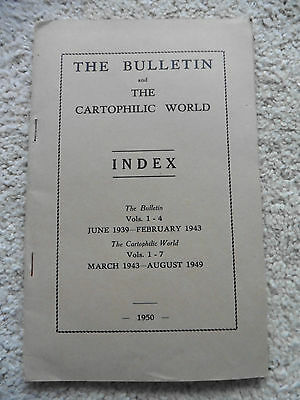 The Bulletin & The Cartophilic World, 1950, Index 1943-1949.