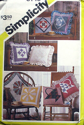 """Simplicity Set of 15"""" Patchwork Couch Pillows Pattern 6146 UC"""