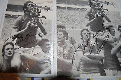 Glasgow Ranger John Greig Signed Two Pictures