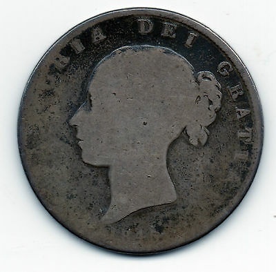 1845 Queen Victoria Young Head Silver Half Crown .925 Sterling Coin