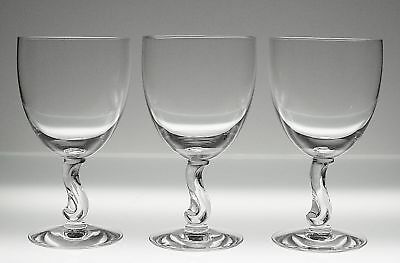 Fostoria CONTOUR #6060 Crystal Water Goblets, Set of 3